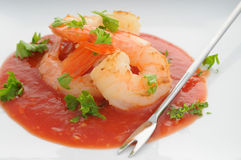 Shrimp Plate Royalty Free Stock Photography
