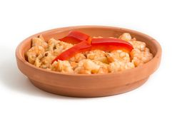 Shrimp Plate over white background royalty free stock images