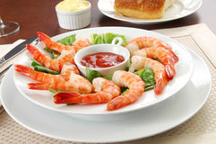 Shrimp platter Royalty Free Stock Photo