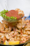 Shrimp platter Royalty Free Stock Images