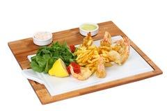 Shrimp Platter stock image