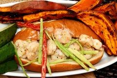Shrimp Poboy stock image