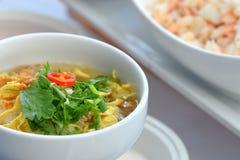 Shrimp porridge. Stock Images