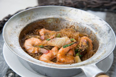 Shrimp potted with. Vermicelli in Thailand Stock Image