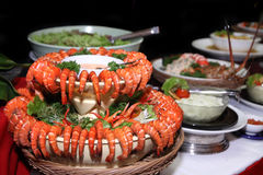 Shrimp or prawn at buffet Stock Image
