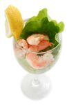Shrimp prawn cocktail Royalty Free Stock Images
