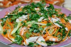 Shrimp Prawn Pork Salad Royalty Free Stock Photo