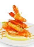 Shrimp Pyramid Stock Photography