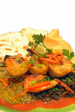 Shrimp quesadilla Stock Photos