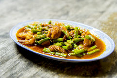Shrimp with red curry in Thai style7 Stock Photos
