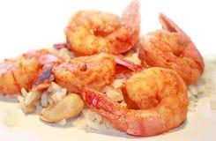 Shrimp and Rice Stock Photos