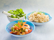 Shrimp with rice Stock Photography