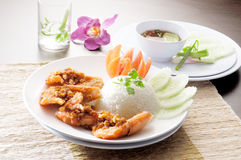 Shrimp and rice asia food Royalty Free Stock Photo