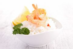 Shrimp and rice Royalty Free Stock Image