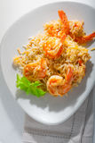 Shrimp and rice Stock Image