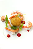 Shrimp and rice Stock Photography