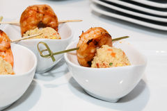 Shrimp with rice Royalty Free Stock Photography