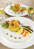 Shrimp Risotto Royalty Free Stock Image