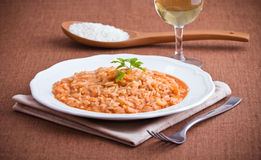 Shrimp risotto. Royalty Free Stock Photos