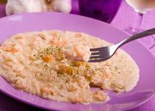 Shrimp risotto. Royalty Free Stock Photo