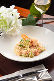 Shrimp risotto Royalty Free Stock Photography