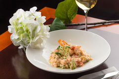 Shrimp risotto Royalty Free Stock Photo