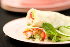 Shrimp Rolls Royalty Free Stock Images