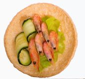 Sandwich with shrimps. Stock Photos