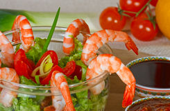 Shrimp salad Royalty Free Stock Image