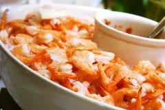 Shrimp Salad. On ice. Shallow DOF stock photography