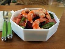 Shrimp salad 2010b royalty free stock photo