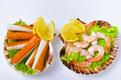 Shrimp salad Stock Images