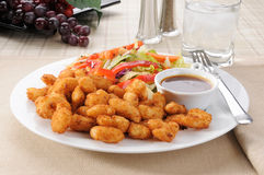 Shrimp and salad Stock Photography