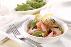 Shrimp salad Royalty Free Stock Photo