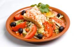 Shrimp Salad. A close up on a shrimp salad Stock Image