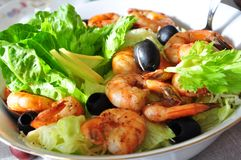 Free Shrimp Salad Royalty Free Stock Photo - 27125245