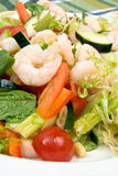 Shrimp salad. Piled high with assorted vegetables Stock Photography