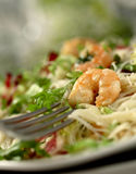 Shrimp salad. With swallow DOF royalty free stock images