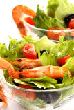 Shrimp salad. Very fresh and tasty shrimp salade Stock Photos
