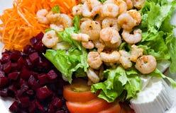 Shrimp Salad. Healthy food - Shrimp Salad Stock Photo