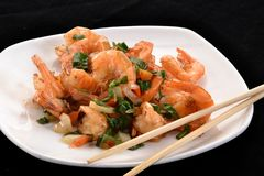 Shrimp salad. Royalty Free Stock Photography