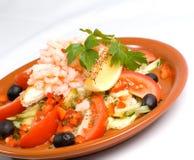 Free Shrimp Salad Plate Stock Photos - 2441113