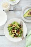 Shrimp salad on plate Royalty Free Stock Image