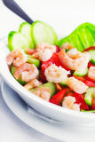 Shrimp salad in a plate Royalty Free Stock Photos