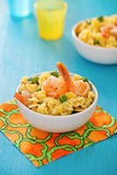 Shrimp salad with spaghetti Royalty Free Stock Photo
