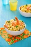 Shrimp salad with spaghetti Royalty Free Stock Photo