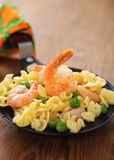 Shrimp salad with spaghetti Stock Photography