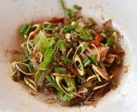 Shrimp salad thai food Stock Image