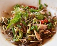Shrimp salad thai food Royalty Free Stock Photo