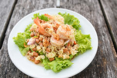 Shrimp salad, Thai Food Royalty Free Stock Photography